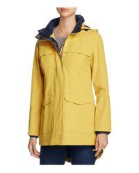 Pendleton - Yellow Hooded Rain Coat - Lyst