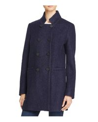 T Tahari | Blue Harper Double-breasted Front Coat | Lyst