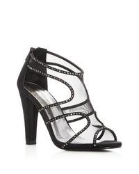 Caparros Desire Rhinestone Embellished High Heel Sandals Black Women