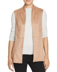 B Collection By Bobeau - Natural Junya Seamed Faux Suede Vest - Lyst