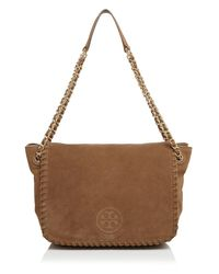 Tory Burch | Brown Small Marion Flap Shoulder Bag | Lyst