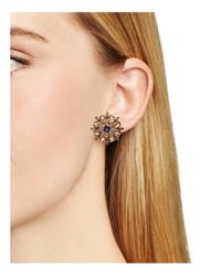kate spade new york - Purple Trellis Blooms Stud Earrings - Lyst