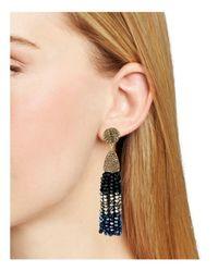 BaubleBar - Metallic Nynette Tassel Drop Earrings - Lyst
