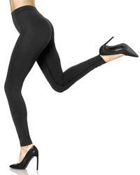 Hue | Black Double Knit Shaping Leggings | Lyst