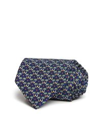 Ferragamo | Blue Palm Tree Isle Classic Tie for Men | Lyst