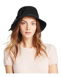 kate spade new york - Black Dorothy Bucket Hat With Bow - Lyst