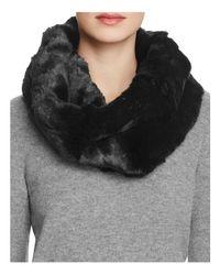 Badgley Mischka - Black Faux Fur Neck Warmer - Lyst