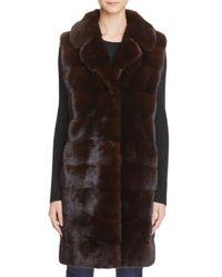 Maximilian | Multicolor Mink Fur Long Vest - 100% Exclusive | Lyst