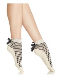 Free People | Natural Parisi Stripe Ankle Socks | Lyst