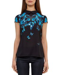 Ted Baker - Black Nealie Butterfly Collective Top - Lyst