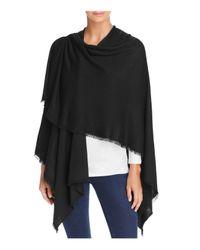 Fraas - Black Solid Knit Ruana - Lyst