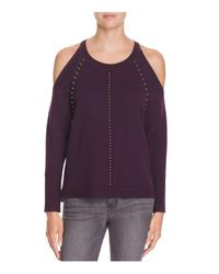 Ramy Brook - Purple Maya Cold Shoulder Sweater - Lyst