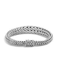 John Hardy | Metallic Sterling Silver Classic Chain Graduated Bracelet | Lyst