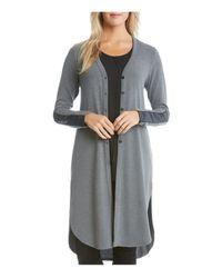 Karen Kane   Gray Shirttail Duster Cardigan   Lyst