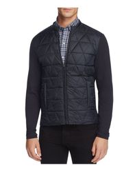 Zachary Prell | Blue Quilted Panel Knit Zip Jacket for Men | Lyst