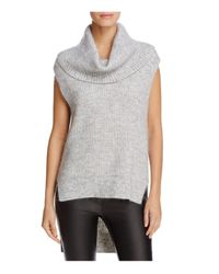 MICHAEL Michael Kors | Gray Cowl Neck High Low Sweater | Lyst
