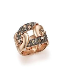 Pomellato   Tango Ring With Brown Diamonds In 18k Rose Gold   Lyst
