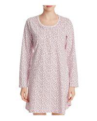 Eileen West | Pink Long Sleeve Short Knit Sleepshirt | Lyst