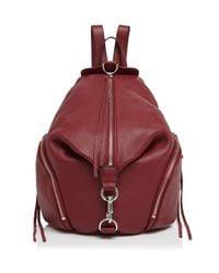 Rebecca Minkoff - Red Julian Leather Backpack - Lyst