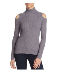 Theory | Gray Jemliss Cutout Turtleneck Sweater | Lyst