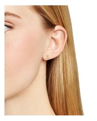 Aqua - Metallic Asymmetrical Initial Stud Earrings - Lyst
