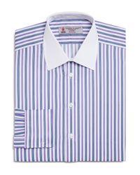 Turnbull & Asser | Blue Stripe French Cuff Classic Fit Dress Shirt for Men | Lyst