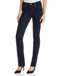 7 For All Mankind | Blue B(air) Kimmie Straight Jeans In New Luxe Rinse | Lyst