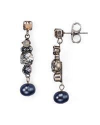 Sorrelli | Metallic Swarovski Crystal Drop Earrings | Lyst
