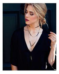 Gorjana | Metallic Power Stone Adjustable Y-necklace | Lyst