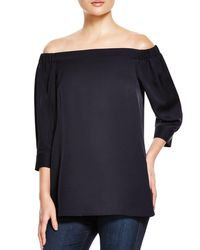 Theory | Blue Joscla Off-the-shoulder Top | Lyst
