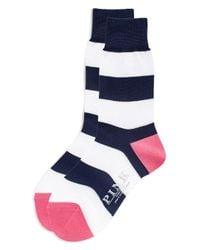 Thomas Pink | Blue Rugby Stripe Socks for Men | Lyst