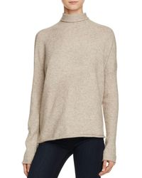 French Connection   Natural Autumn Flossy Turtleneck Sweater   Lyst