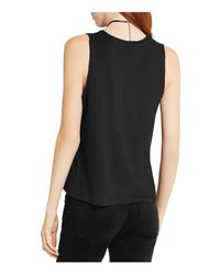 BCBGeneration - Black Sleeveless Pleated Top - Lyst