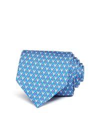 Ferragamo | Blue Horseshoe Saddle Classic Tie for Men | Lyst