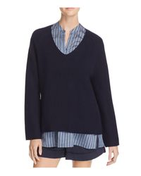 Vince | White Deep V-neck Cashmere Sweater | Lyst