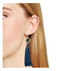 Chan Luu - Blue Tassel Drop Earrings - Lyst