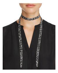 Chan Luu | Black Chiffon Necktie | Lyst