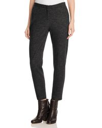 Eileen Fisher | Black Textured Slim Ankle Pants | Lyst