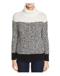Two By Vince Camuto | Black Color Block Turtleneck Sweater | Lyst