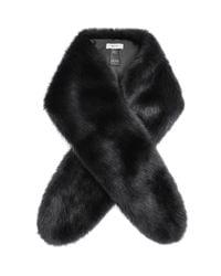 Reiss   Black Faux Fur Scarf   Lyst