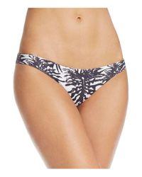 Mikoh Swimwear - Blue Zuma Leaf Print Bikini Bottom - Lyst