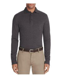 Brooks Brothers | Gray Knit Oxford Long Sleeve Regular Fit Polo Shirt for Men | Lyst
