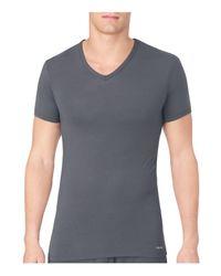Calvin Klein | Gray Body Modal V-neck Neck Tee for Men | Lyst