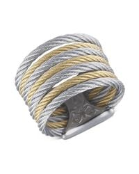 Alor | Metallic Two Tone Cable Ring | Lyst