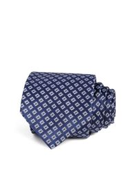 W.r.k. | Blue Textured Square Classic Tie for Men | Lyst
