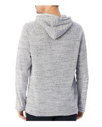 Alternative Apparel - Gray Wheels Up Mélange Fleece Pullover Hoodie Sweatshirt for Men - Lyst