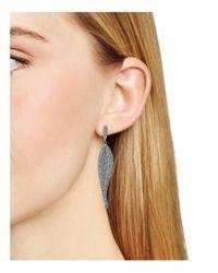 Nadri - Metallic Wave Pavé Drop Earrings - Lyst