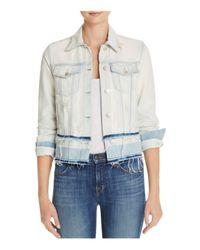 J Brand | White Deena Denim Jacket In Ecstasy | Lyst