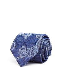 Canali | Blue Paisley Classic Tie for Men | Lyst