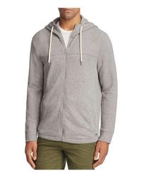 BOSS Orange | Gray Zports Textured Zip Hoodie Sweatshirt for Men | Lyst